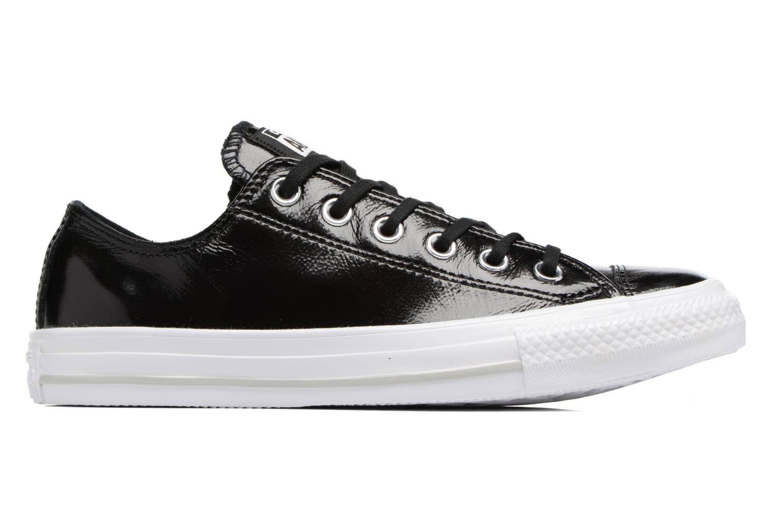 Egret/Egret/White Converse Chuck Taylor All Star Crinkled Patent Leather Ox (Blanc)