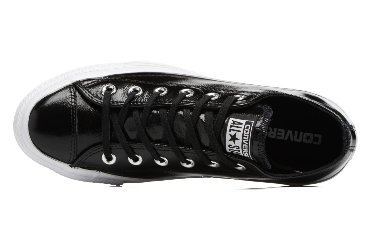 Baskets Converse Chuck Taylor All Star Crinkled Patent Leather Ox Noir vue gauche