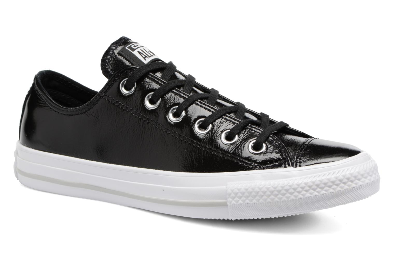 Baskets Converse Chuck Taylor All Star Crinkled Patent Leather Ox Noir vue détail/paire