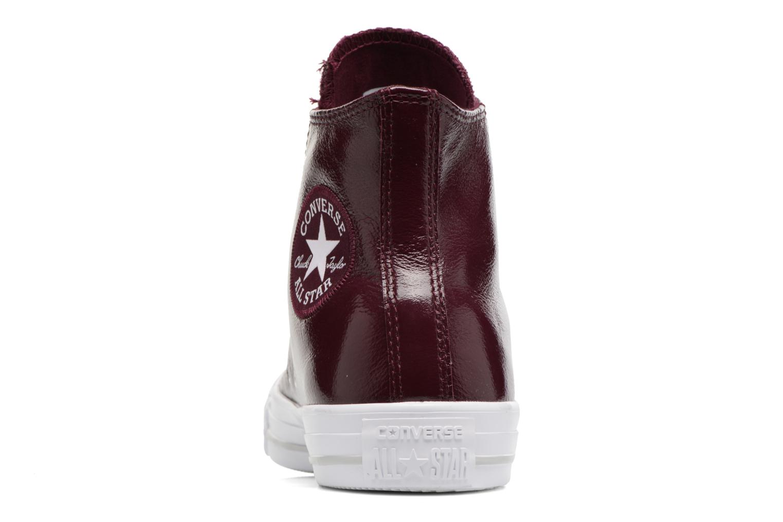 Baskets Converse Chuck Taylor All Star Crinkled Patent Leather Hi Bordeaux vue droite