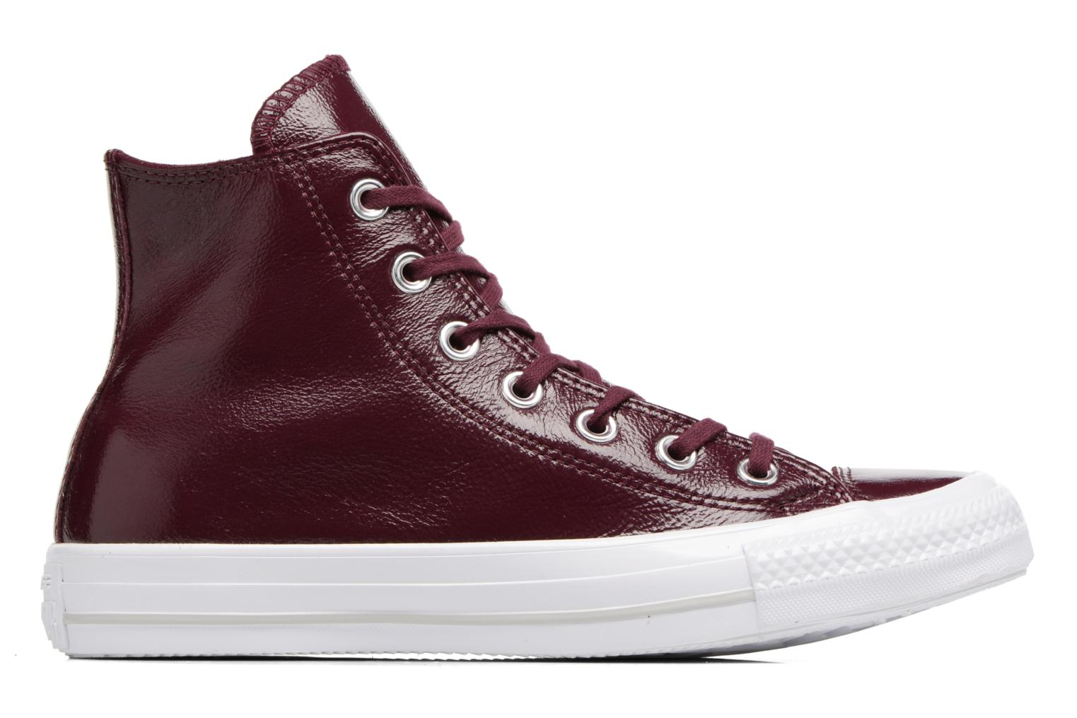 Deportivas Converse Chuck Taylor All Star Crinkled Patent Leather Hi Vino vistra trasera