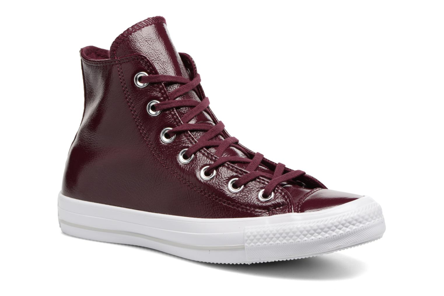 Sneakers Converse Chuck Taylor All Star Crinkled Patent Leather Hi Bordeaux detail