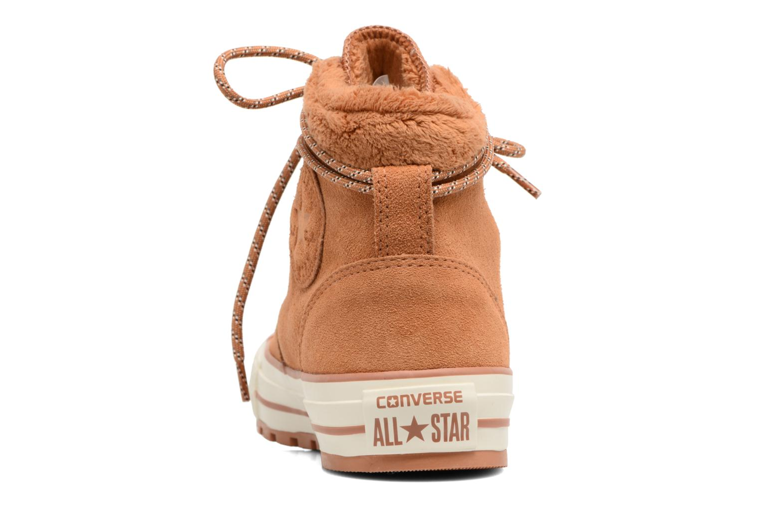 Ankle boots Converse Chuck Taylor All Star Ember Boot Suede + Fur Hi Brown view from the right