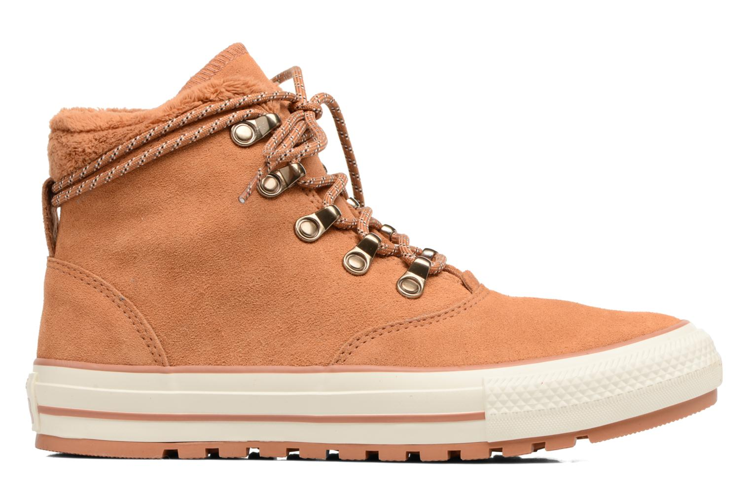 Ankle boots Converse Chuck Taylor All Star Ember Boot Suede + Fur Hi Brown back view