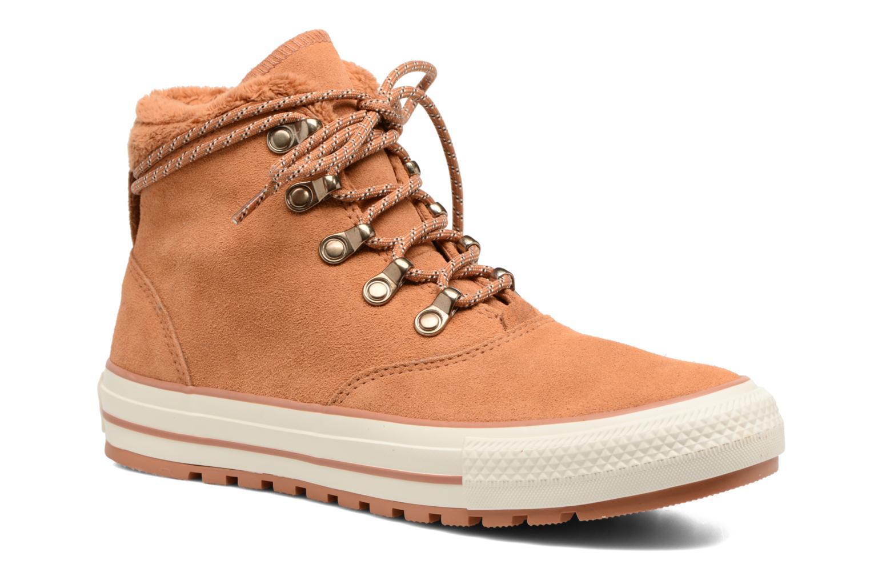 Bottines et boots Converse Chuck Taylor All Star Ember Boot Suede + Fur Hi Marron vue détail/paire