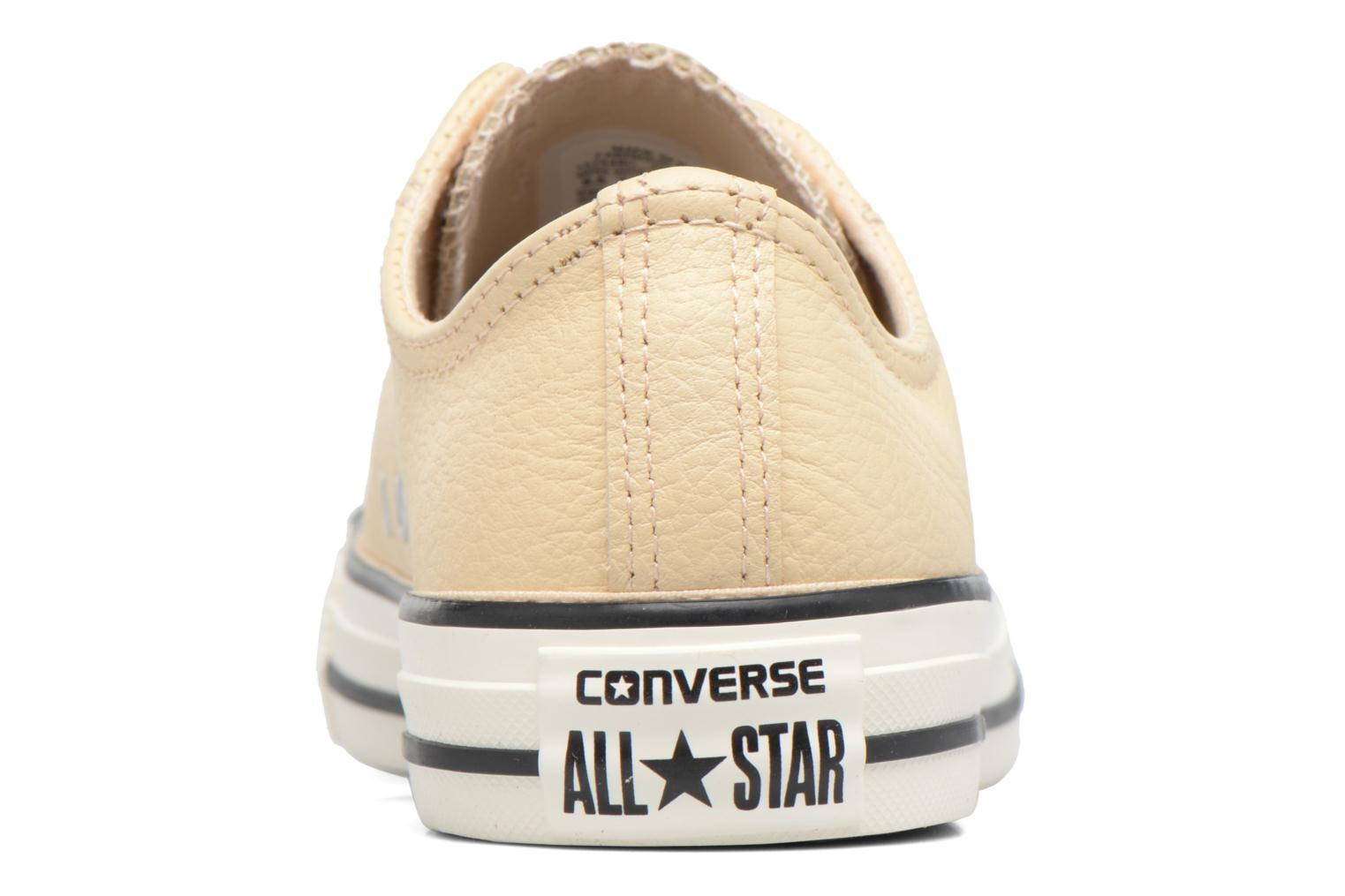 Deportivas Converse Chuck Taylor All Star Tumbled Leather Ox Beige vista lateral derecha