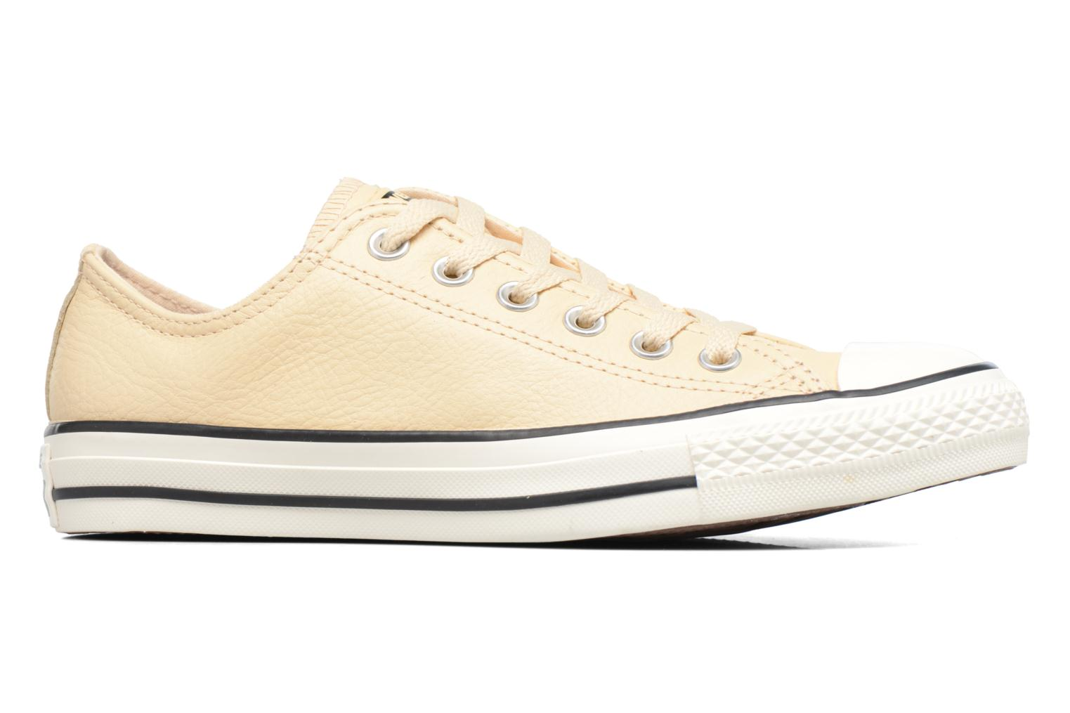 Baskets Converse Chuck Taylor All Star Tumbled Leather Ox Beige vue derrière