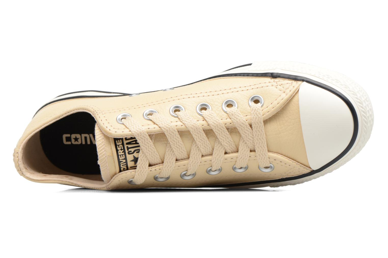 Baskets Converse Chuck Taylor All Star Tumbled Leather Ox Beige vue gauche