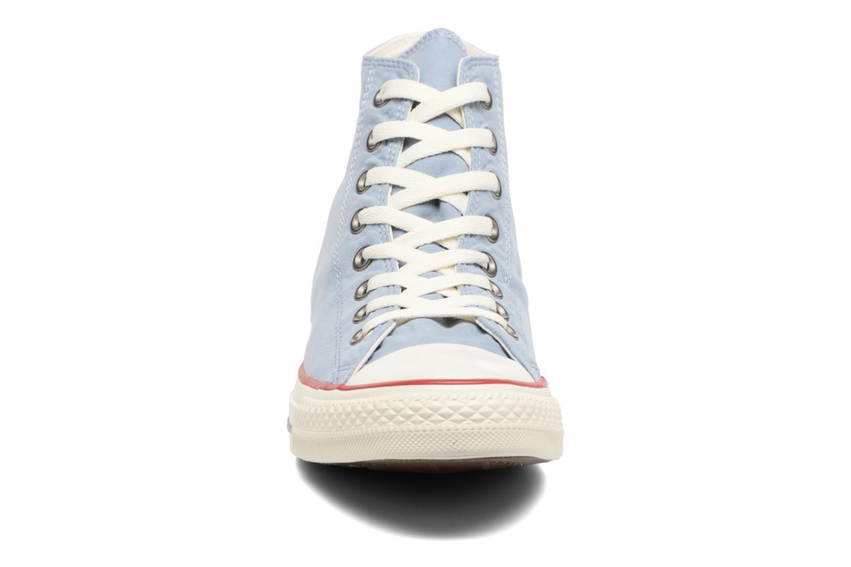 Blue Slate/Garnet/White Converse Chuck Taylor All Star Ombre Wash Hi M (Bleu)