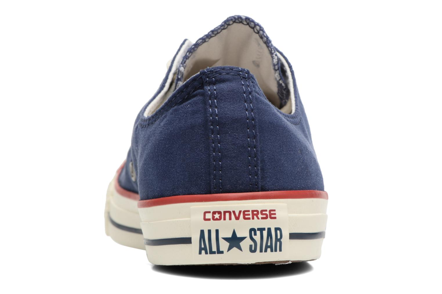 Baskets Converse Chuck Taylor All Star Ombre Wash Ox M Bleu vue droite