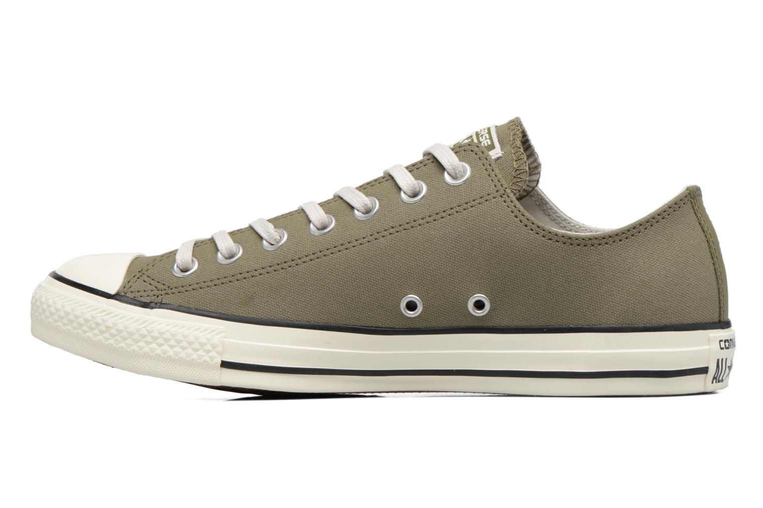 Baskets Converse Chuck Taylor All Star Coated Leather Ox Vert vue face