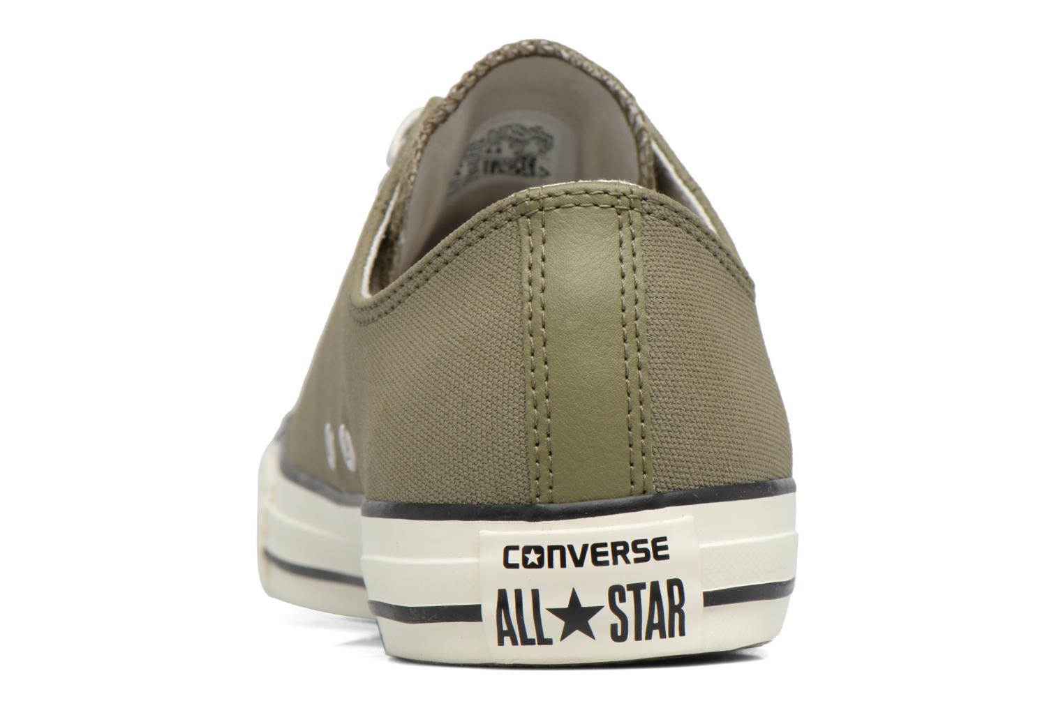 Baskets Converse Chuck Taylor All Star Coated Leather Ox Vert vue droite