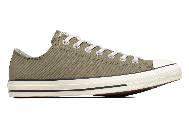 Medium Olive/Black/Egret Converse Chuck Taylor All Star Coated Leather Ox (Vert)