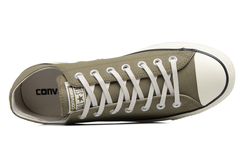 Sneaker Converse Chuck Taylor All Star Coated Leather Ox grün ansicht von links