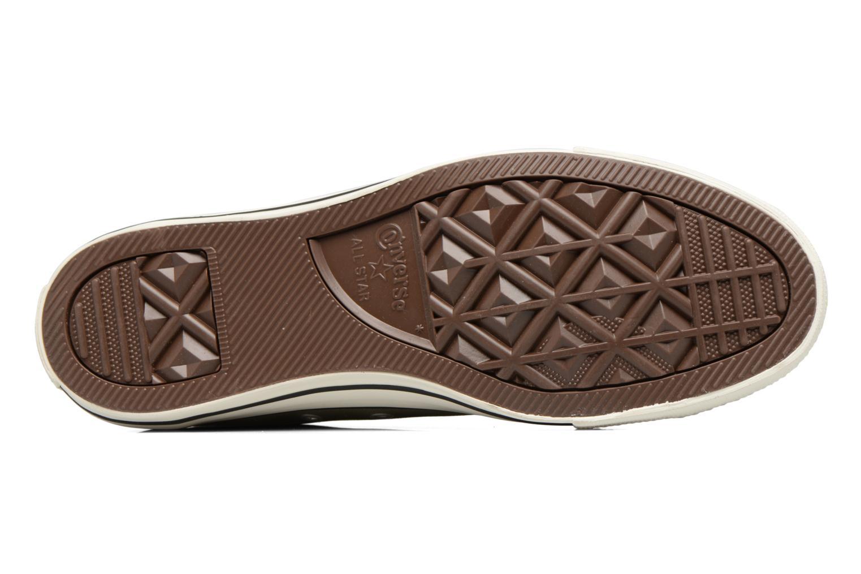 Sneaker Converse Chuck Taylor All Star Coated Leather Ox grün ansicht von oben