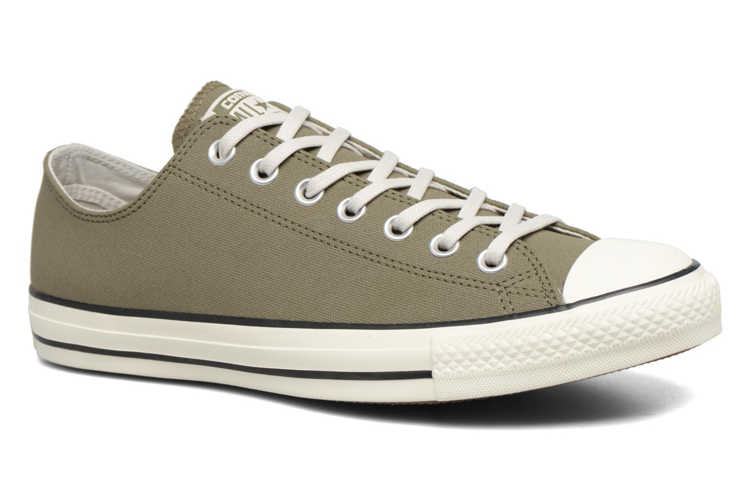 Baskets Converse Chuck Taylor All Star Coated Leather Ox Vert vue détail/paire