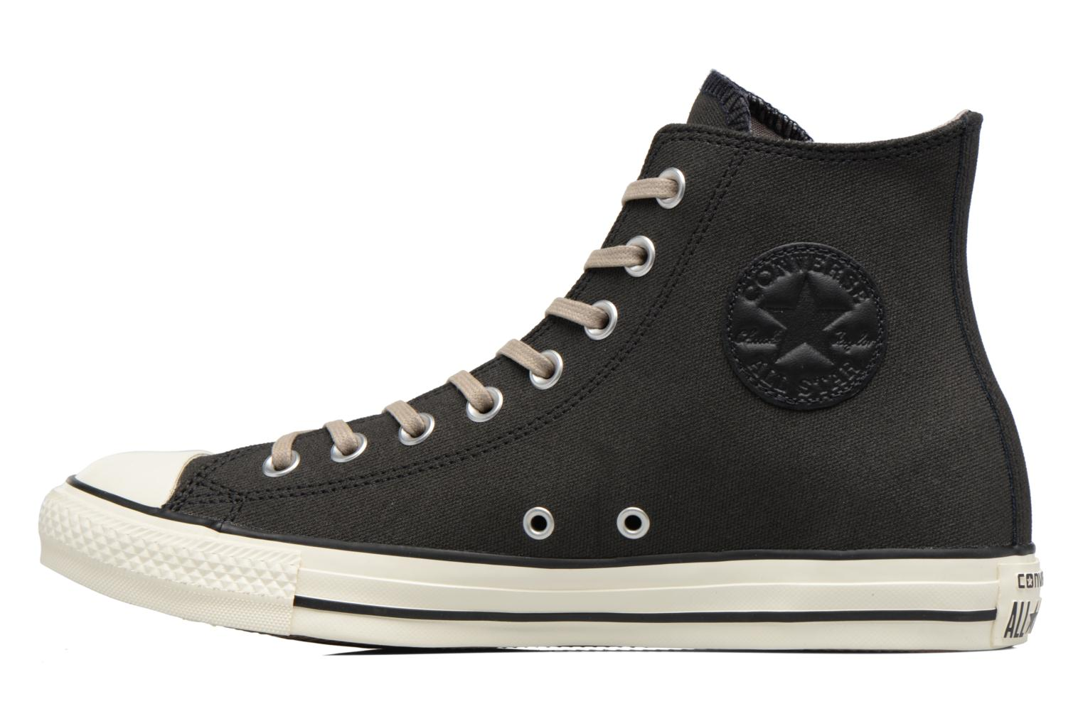 Baskets Converse Chuck Taylor All Star Coated Leather Hi Noir vue face