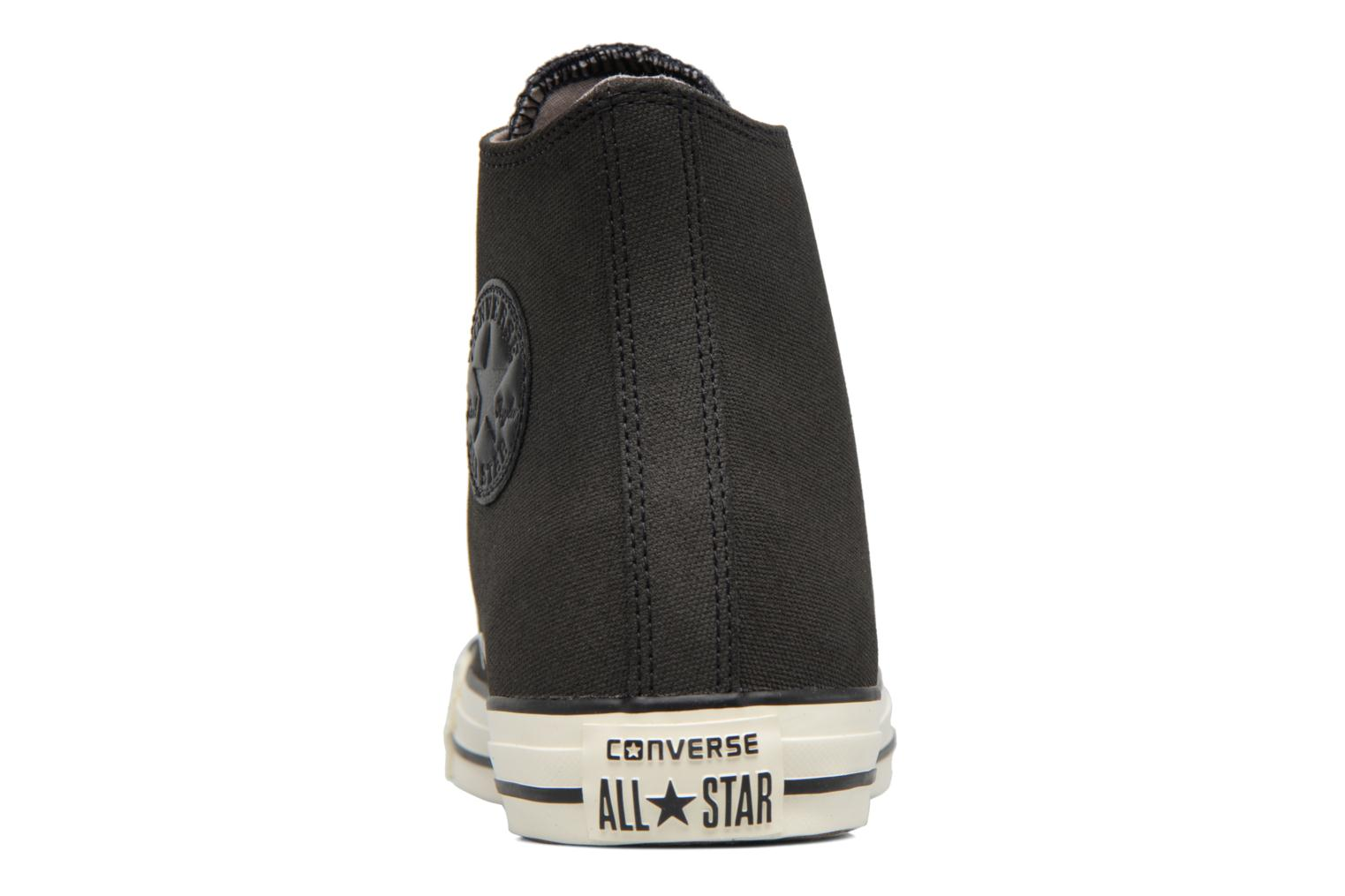 Baskets Converse Chuck Taylor All Star Coated Leather Hi Noir vue droite
