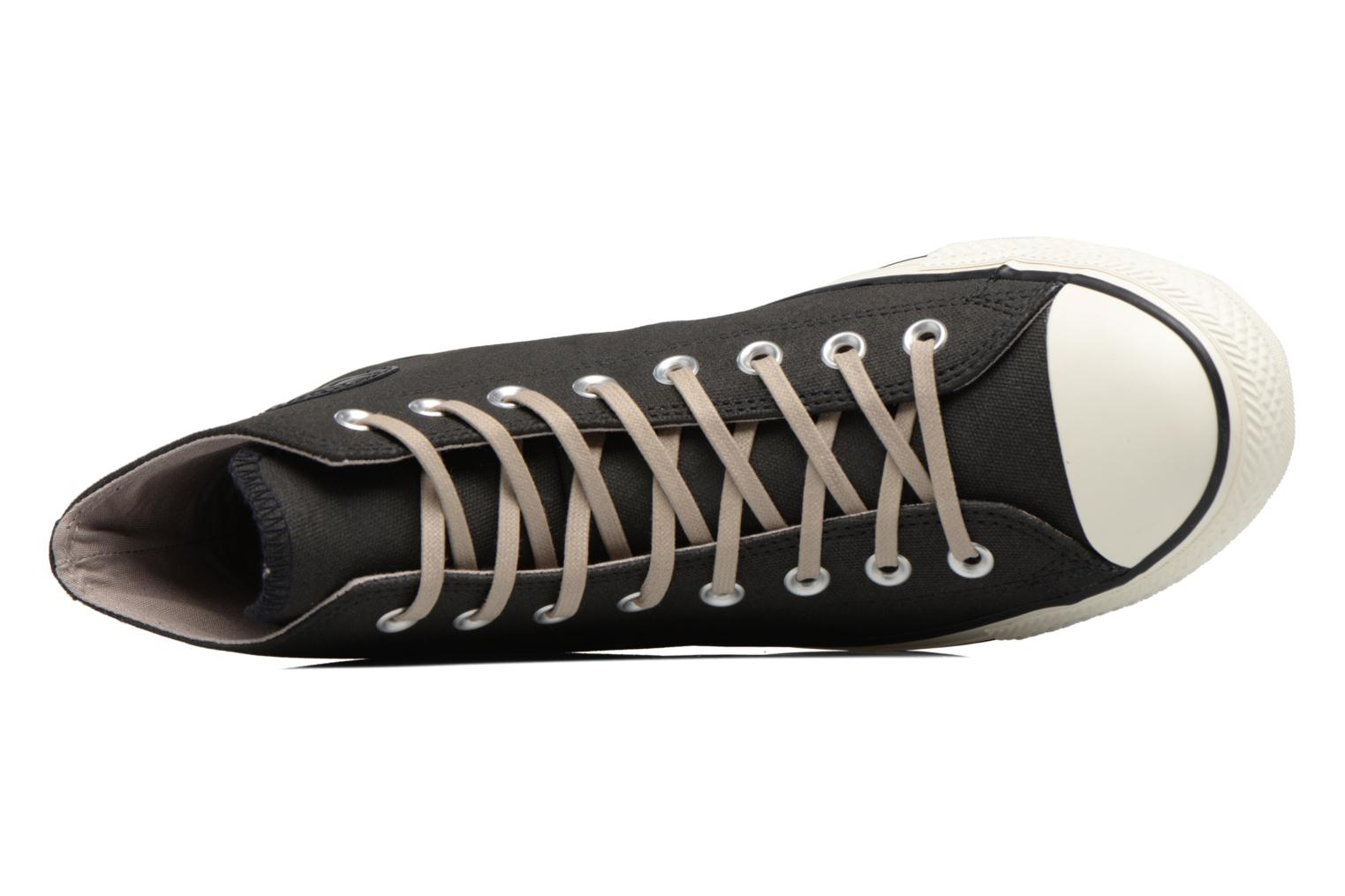 Baskets Converse Chuck Taylor All Star Coated Leather Hi Noir vue gauche