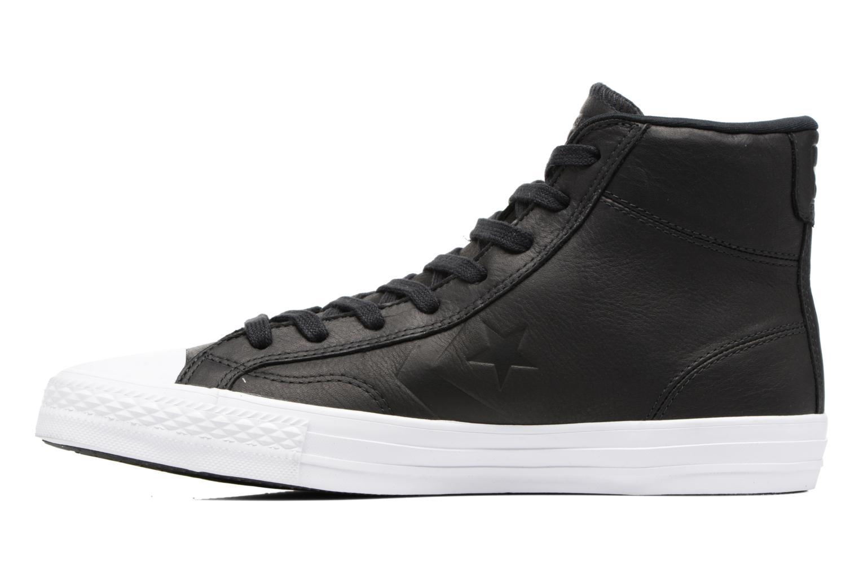 Sneaker Converse Star Player Leather Hi schwarz ansicht von vorne