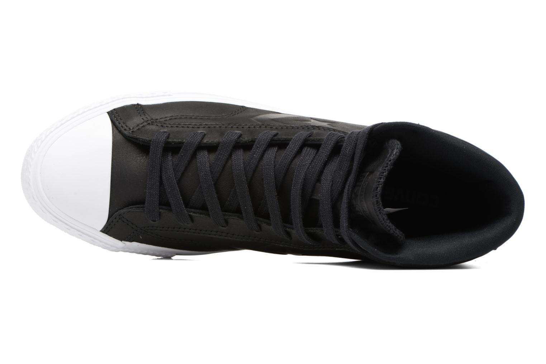 Sneaker Converse Star Player Leather Hi schwarz ansicht von links