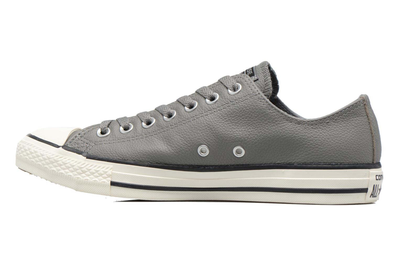 Sneaker Converse Chuck Taylor All Star Tumble Leather Ox grau ansicht von vorne