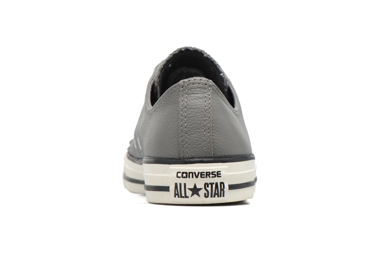 Sneaker Converse Chuck Taylor All Star Tumble Leather Ox grau ansicht von rechts