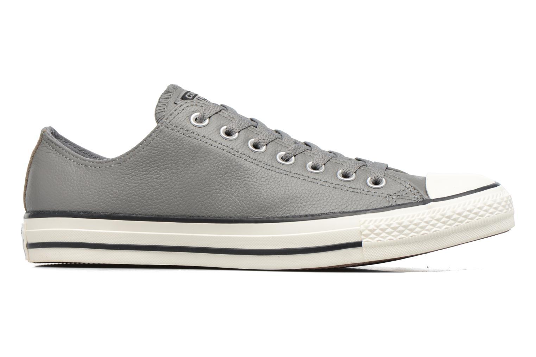 Sneaker Converse Chuck Taylor All Star Tumble Leather Ox grau ansicht von hinten