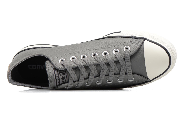 Sneaker Converse Chuck Taylor All Star Tumble Leather Ox grau ansicht von links