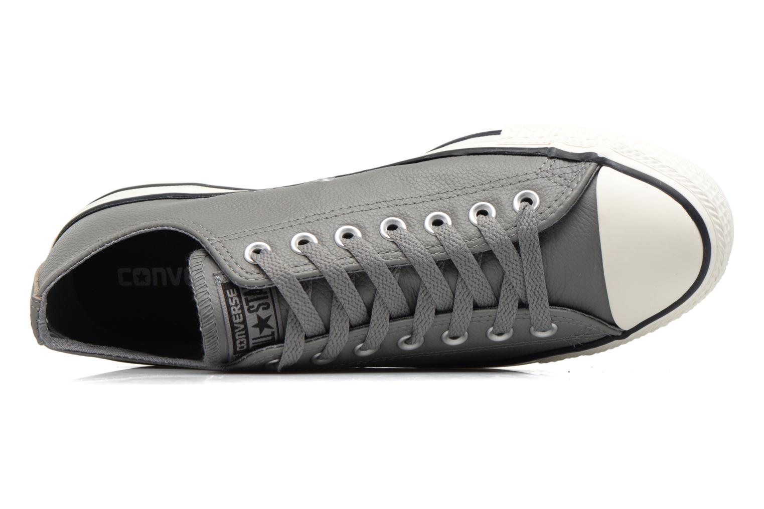 Baskets Converse Chuck Taylor All Star Tumble Leather Ox Gris vue gauche