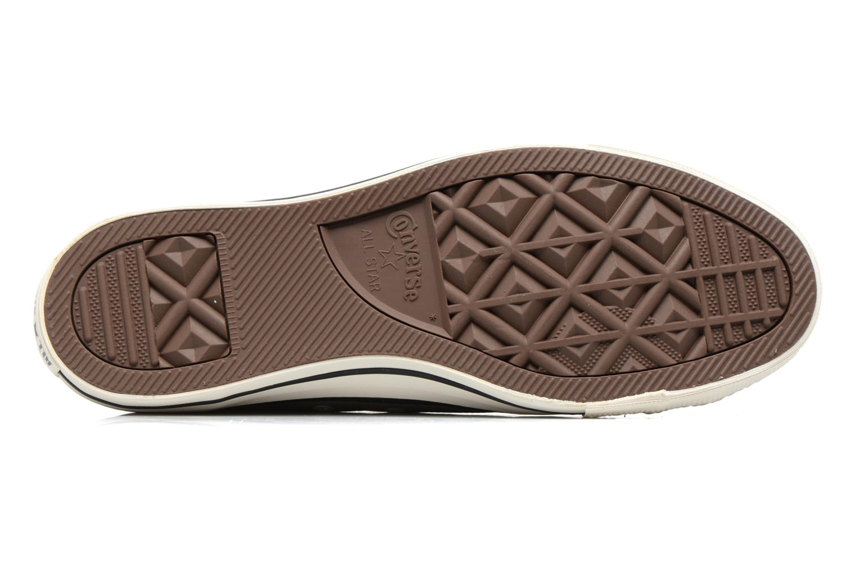 Sneaker Converse Chuck Taylor All Star Tumble Leather Ox grau ansicht von oben