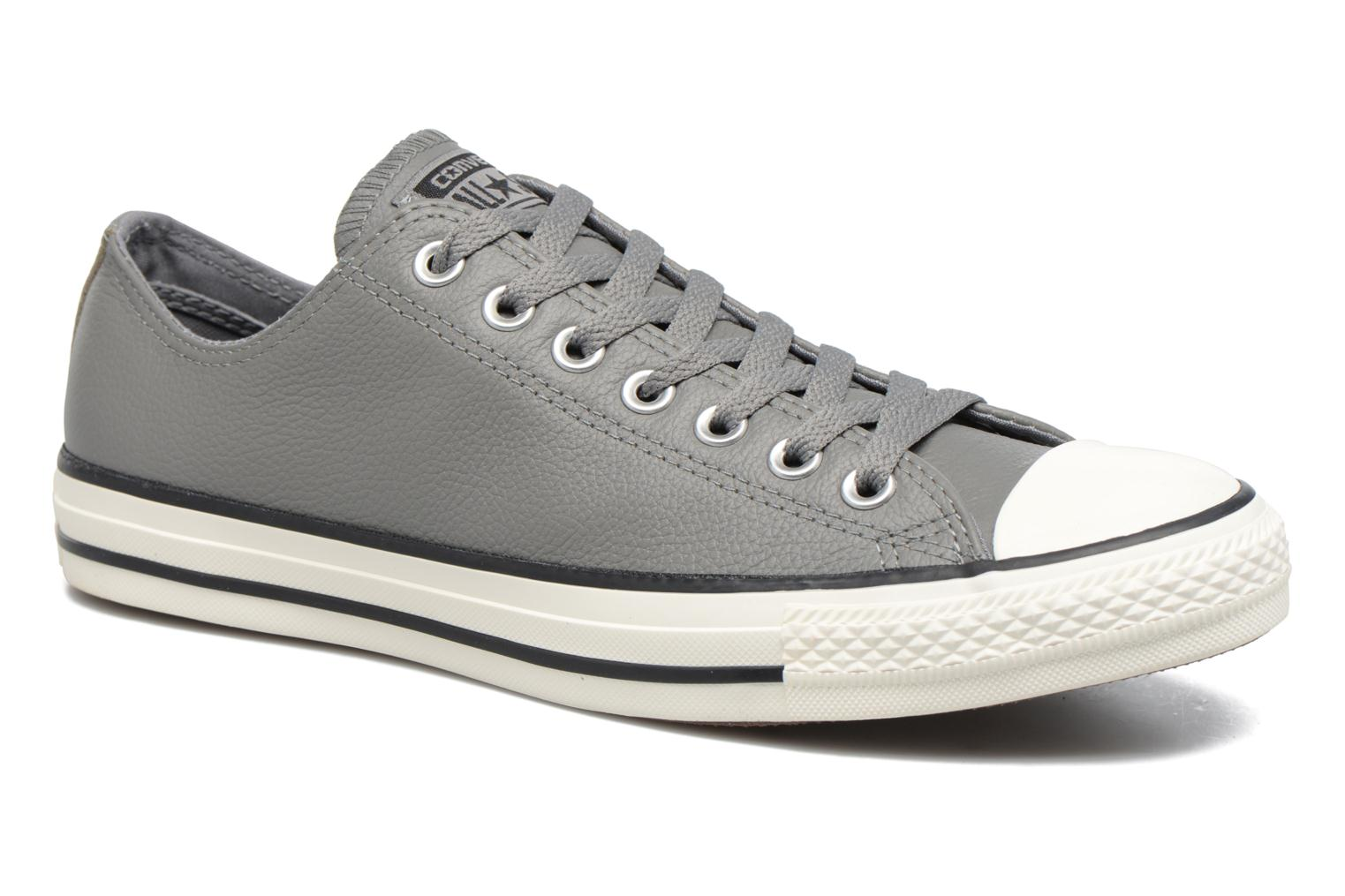 Sneaker Converse Chuck Taylor All Star Tumble Leather Ox grau detaillierte ansicht/modell