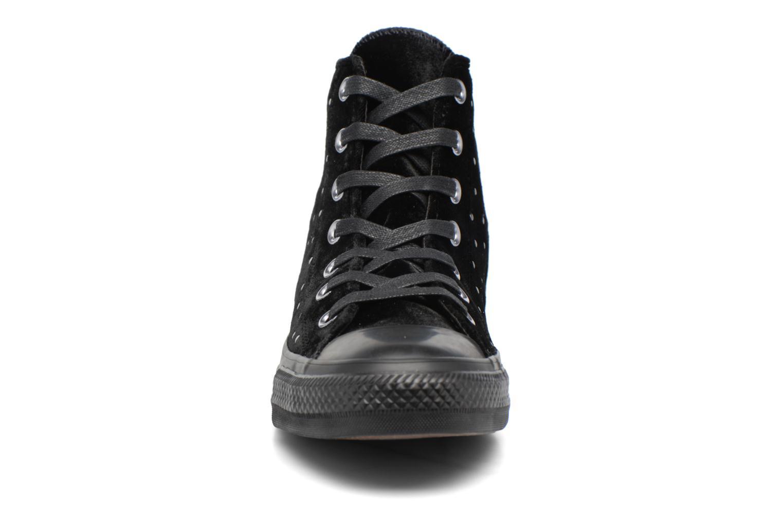 Chuck Taylor All Star Velvet Studs Hi Black/black/black