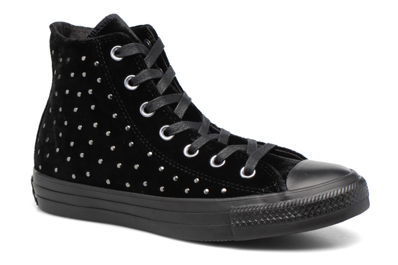 Marques Chaussure femme Converse femme Chuck Taylor All Star Velvet Studs Hi Eclipse/Black/Turtledove