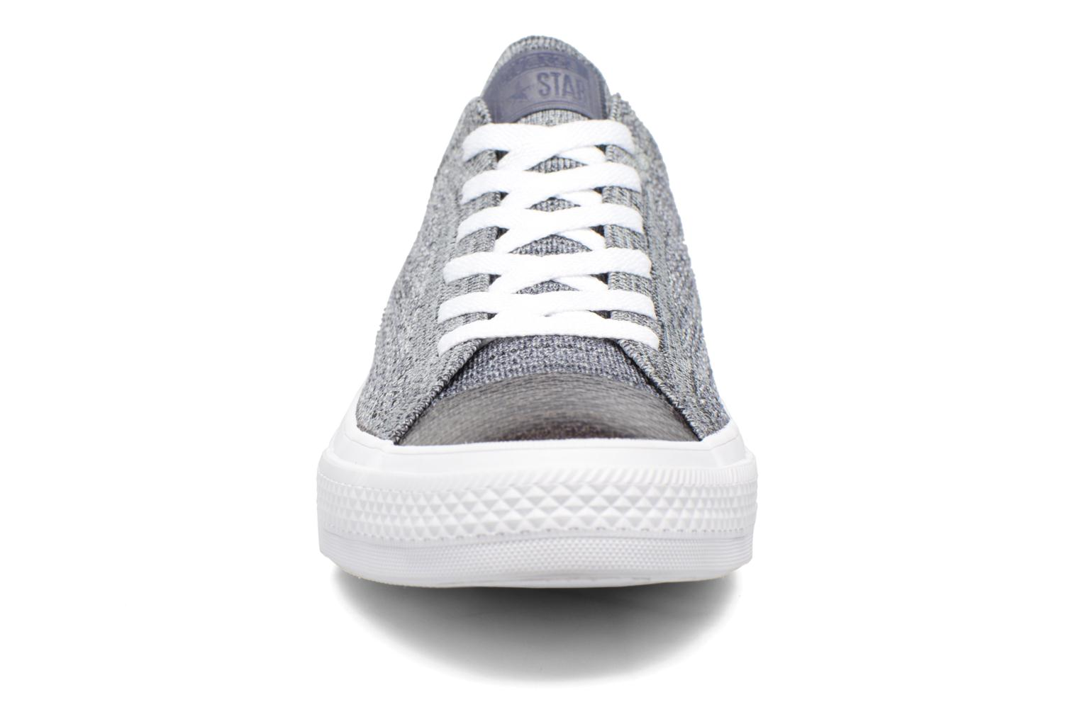 Black/Light Carbon/White Converse Chuck Taylor All Star Ox Flyknit Multi (Gris)