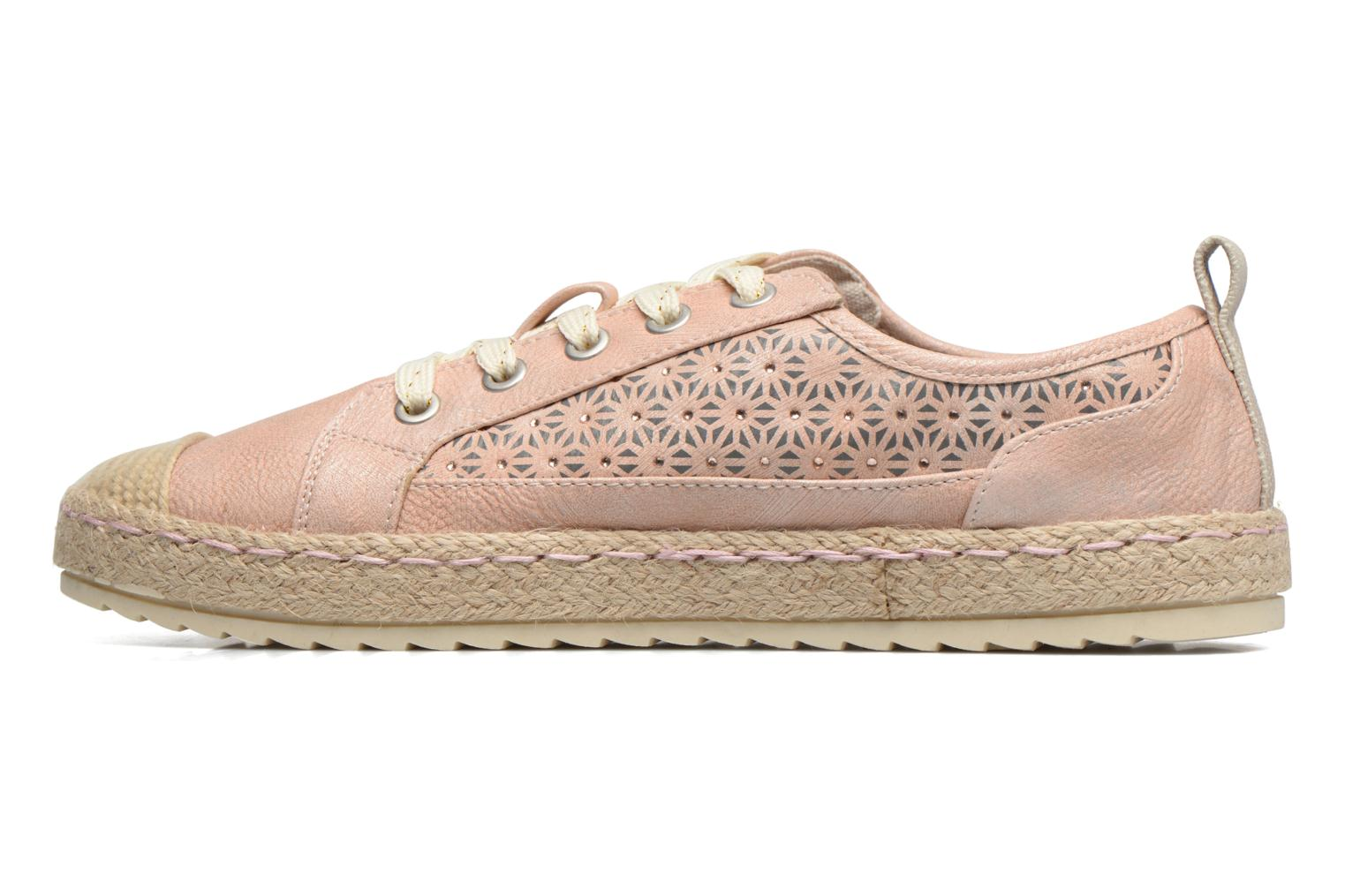 Espadrilles Mustang shoes Padrille Pink front view
