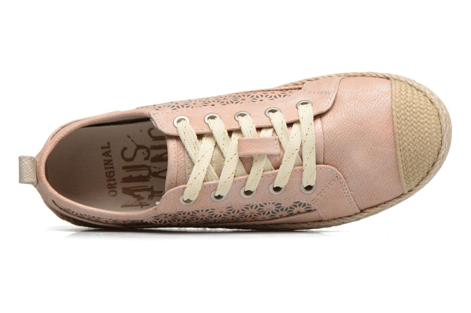 Espadrilles Mustang shoes Padrille Pink view from the left