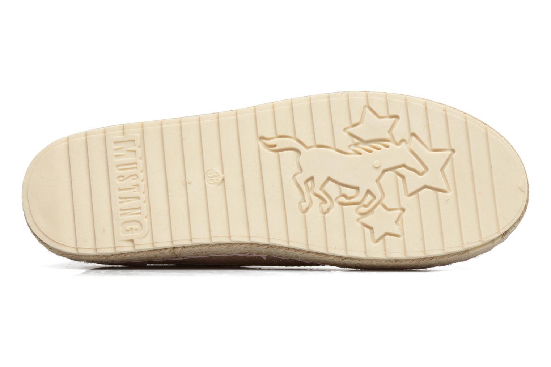 Espadrilles Mustang shoes Padrille Rose vue haut