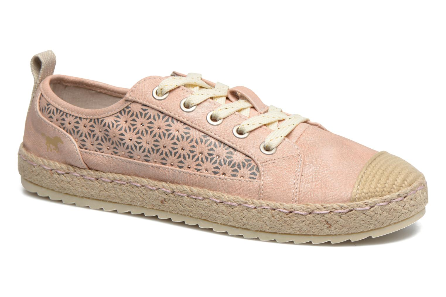 Espadrilles Mustang shoes Padrille Pink detailed view/ Pair view
