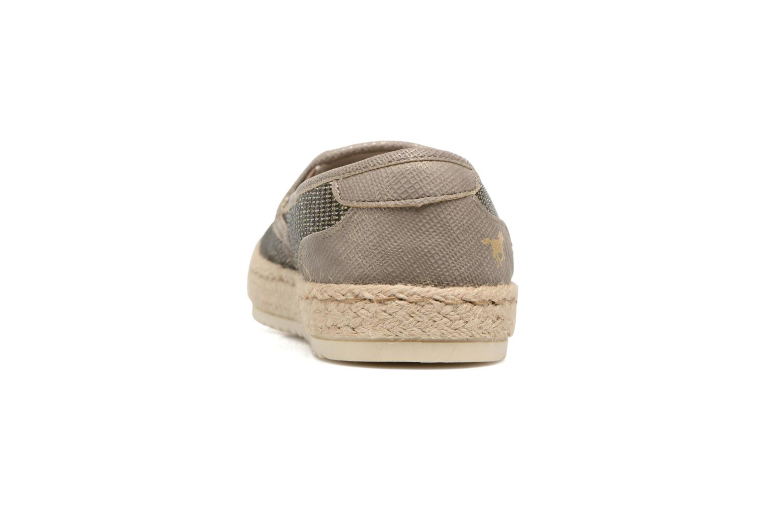 Espadrilles Mustang shoes Mocca Bronze and Gold view from the right