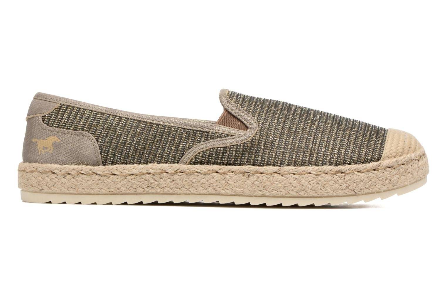 Espadrilles Mustang shoes Mocca Bronze and Gold back view