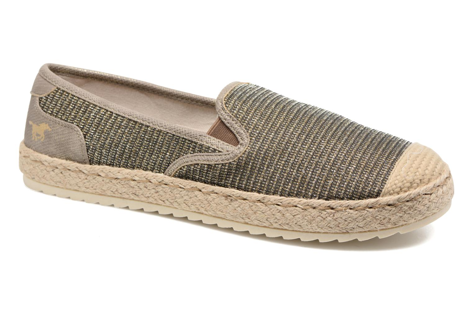 Espadrilles Mustang shoes Mocca Bronze and Gold detailed view/ Pair view