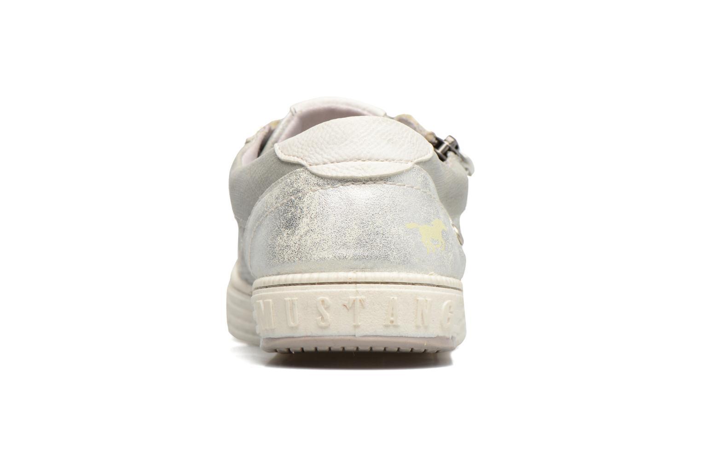 Baskets Mustang shoes Vis Argent vue droite