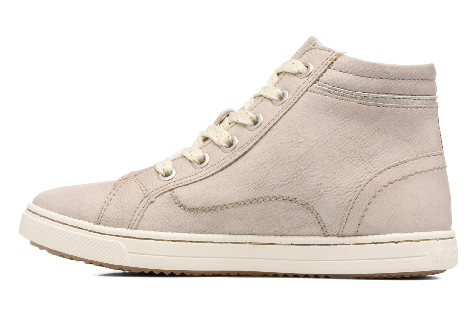 Baskets Mustang shoes Lira Beige vue face