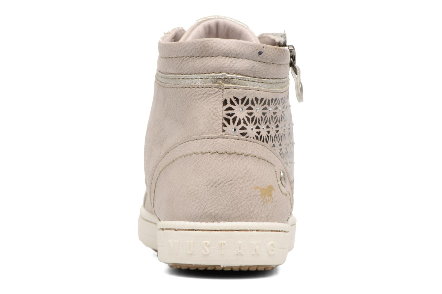 Trainers Mustang shoes Lira Beige view from the right