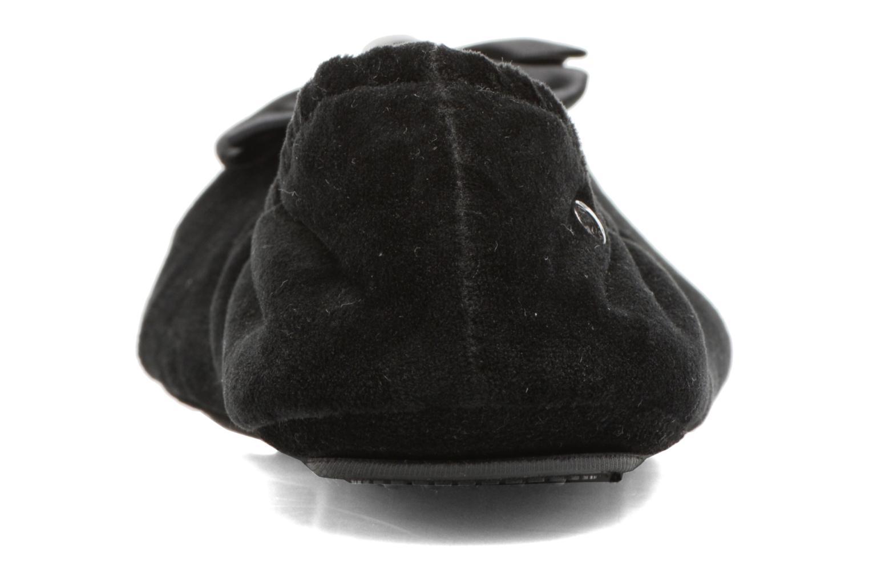 Pantuflas Isotoner Ballerine micro velours bijoux Negro vista lateral derecha