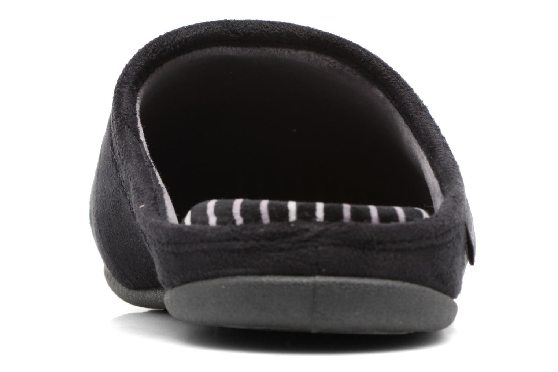 Chaussons Isotoner Mule compensée suédine Noir vue droite