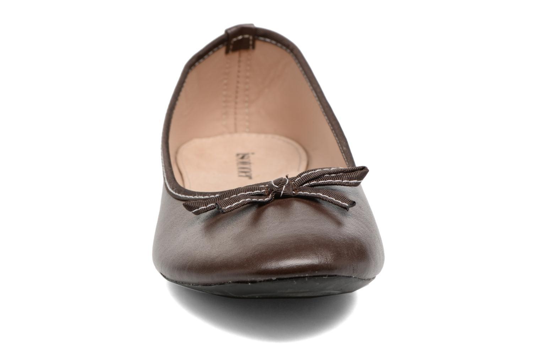Ballerine couture marron