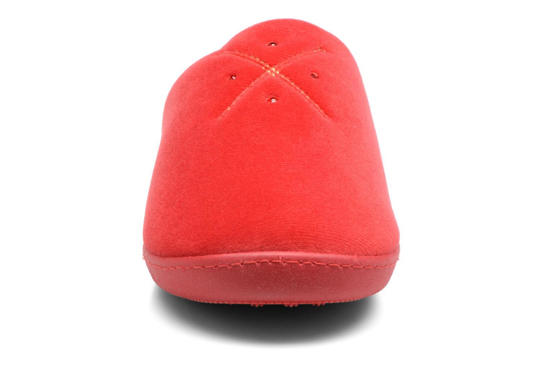Mule ergonomique micro velours Rouge