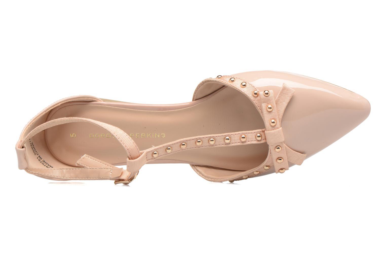 Bailarinas Dorothy Perkins Honour Beige vista lateral izquierda